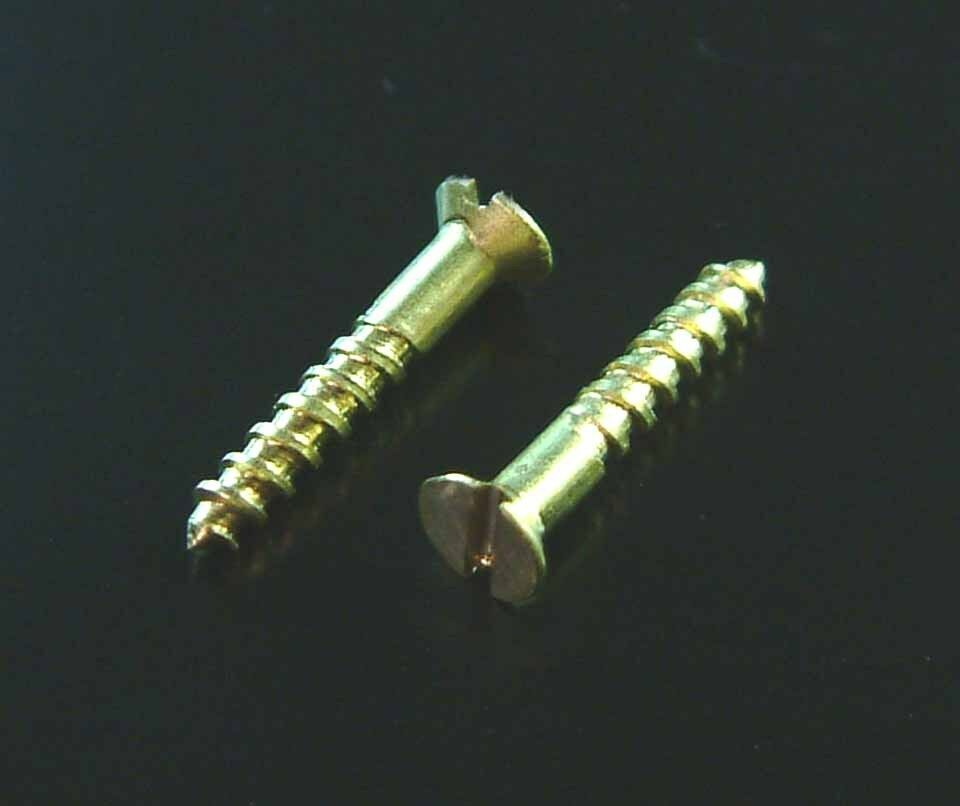 "Expo A32004 Pack of 20 2g x 3/8"" Brass Wood Screws New"