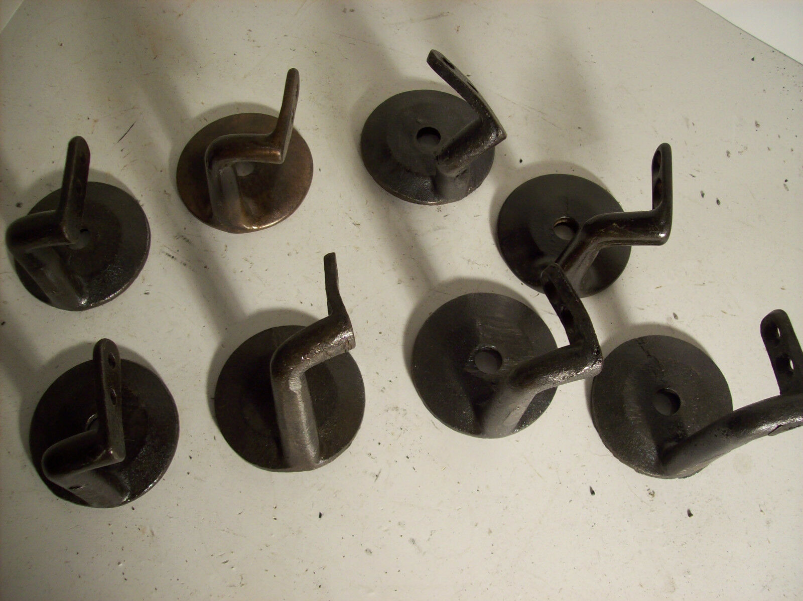 8 available railing to wall mounts cast iron