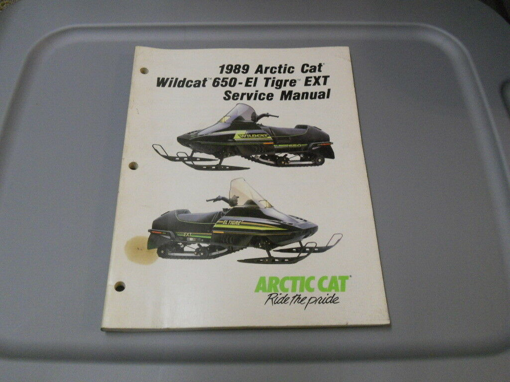 Arctic Cat Factory Service Repair Shop Manual 1989 Wildcat 650-EL Tigre EXT  1 of 1Only 1 available ...