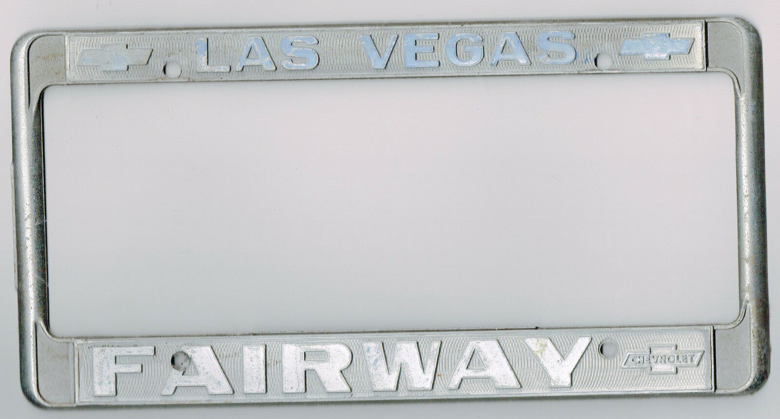 RARE Las Vegas Fairway Chevrolet Vintage Dealer California License Plate  Frame 1 Of 1Only 1 Available ...