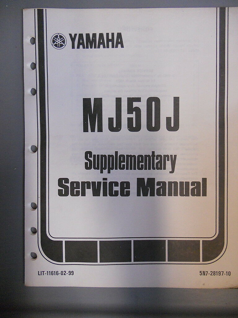 Yamaha Service Manual Supplement 1982 MJ50J MJ50 J 1 of 1Only 1 available  ...