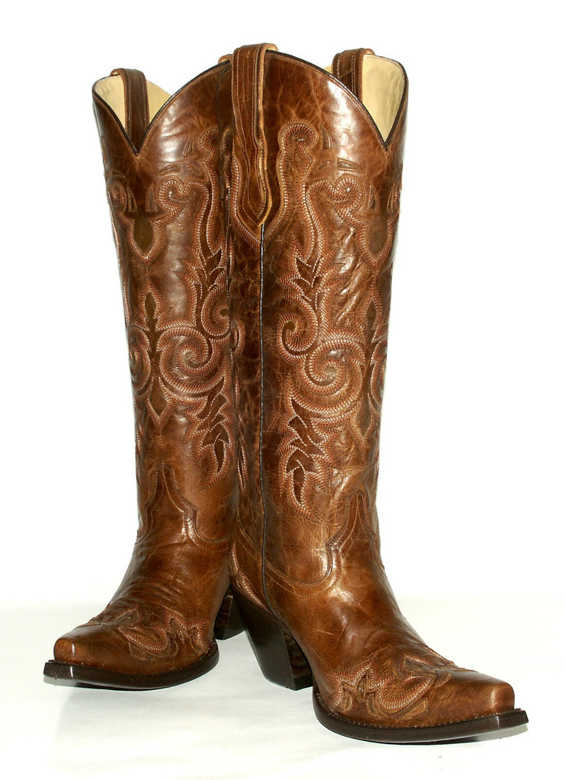 Innovative Women39s Ladies Leather Tall Cowboy Boots Cross Snake Western Riding