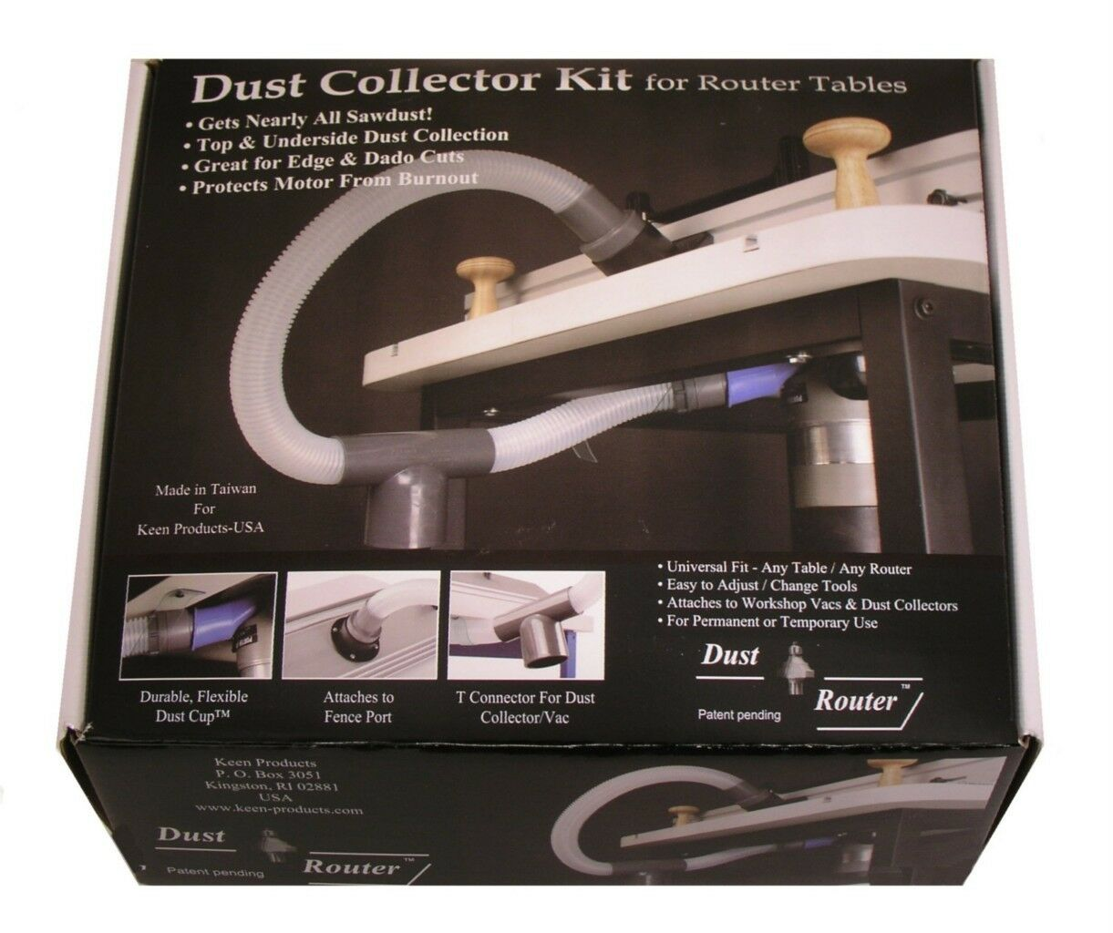 Router table dust collection collector system for fence insert 1 of 1 see more greentooth Image collections