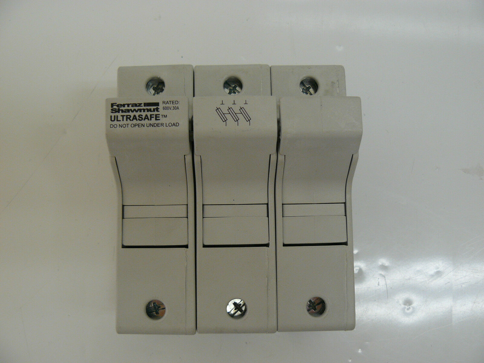 Ferraz Shawmut J214460 Fuse Holder 3 Pole 30 Amp 600 Volt 4499 Screw In Box 1 Of 4only Available