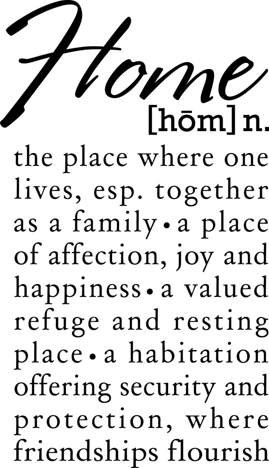 Home definition placetogether vinyl wall decor decal for Decor meaning
