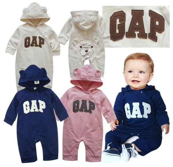 New Baby Gap Girls Boys Long Sleeves One Piece Jumpsuit Clothes Size 0, 1, 2