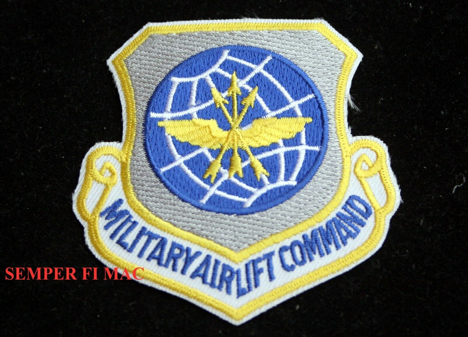 Usaf Military Airlift Command Hat Patch Scott Afb Pin Up Air Mobility 1 Of 12FREE Shipping See More