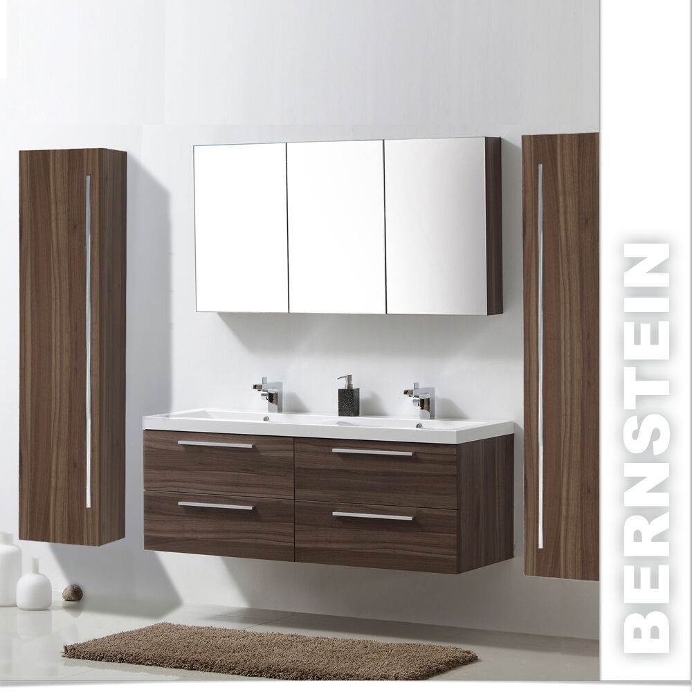 badm belset doppelwaschbecken waschtisch badezimmerm bel spiegelschrank 144cm eur 399 94. Black Bedroom Furniture Sets. Home Design Ideas