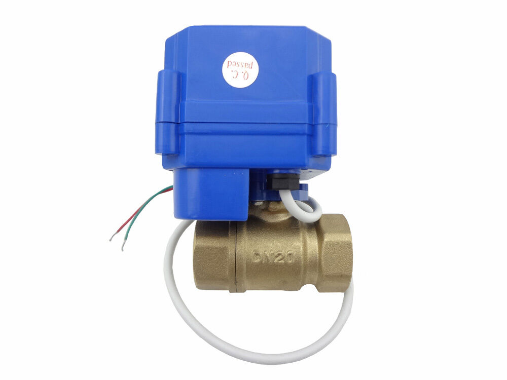 1x motorized ball valve 12V,DN20,with manual switch,2 way,electrical valve,brass
