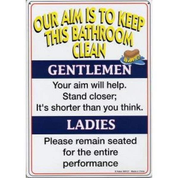 Bathroom Rules Tin Sign FUNNY SIGN 1 Of 1 See More