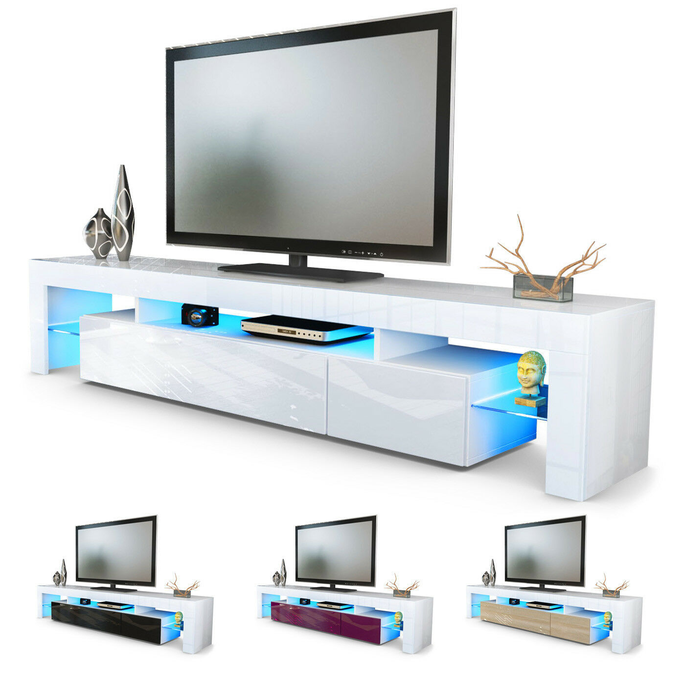lowboard tv rack hochglanz wei ofelia 1 pictures to pin. Black Bedroom Furniture Sets. Home Design Ideas