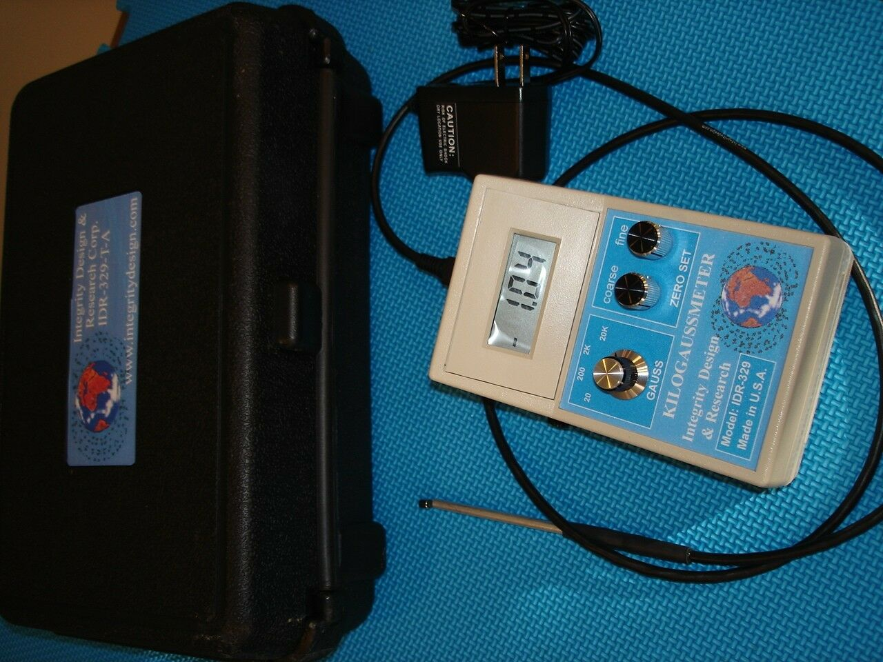 Idr 329 Adc Gaussmeter W Axial Probe Tesla Meter Magnet Tester Home Diy Magnetic Field Magnetometer Circuit 1 Of 2only 4 Available
