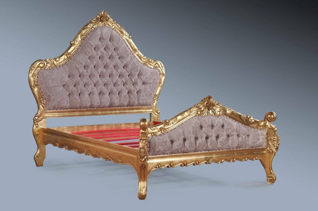Large Mahogany Period Grand Gold Leaf Ornate Boudoir French Super King Size Bed