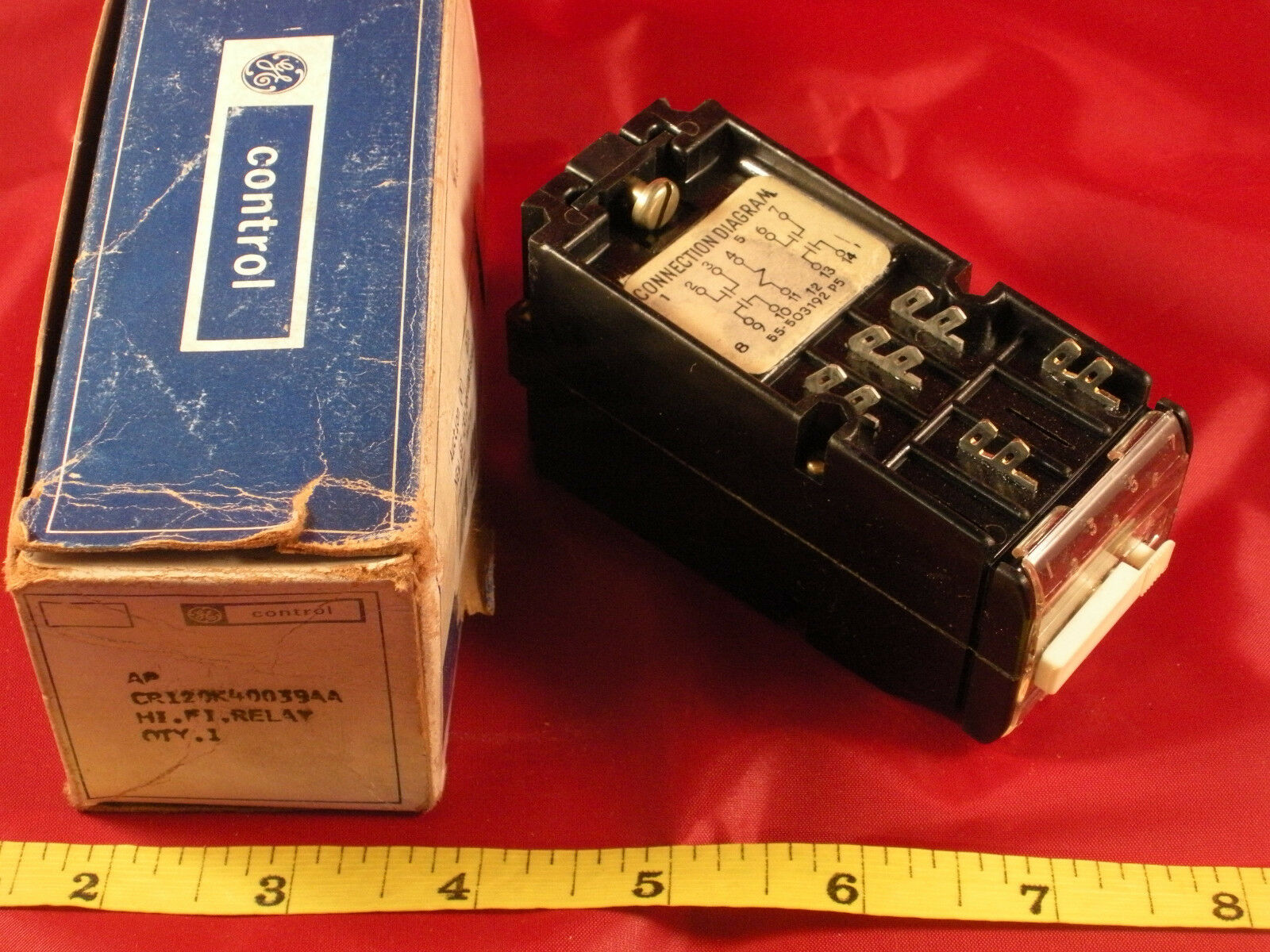 Ge General Electric Cr120k40039aa High Fidelity Relay 28vdc Nos New Dpdt 110vac 10a 8 Pin Octal Power Circuit Diagram 1 Of 1only Available
