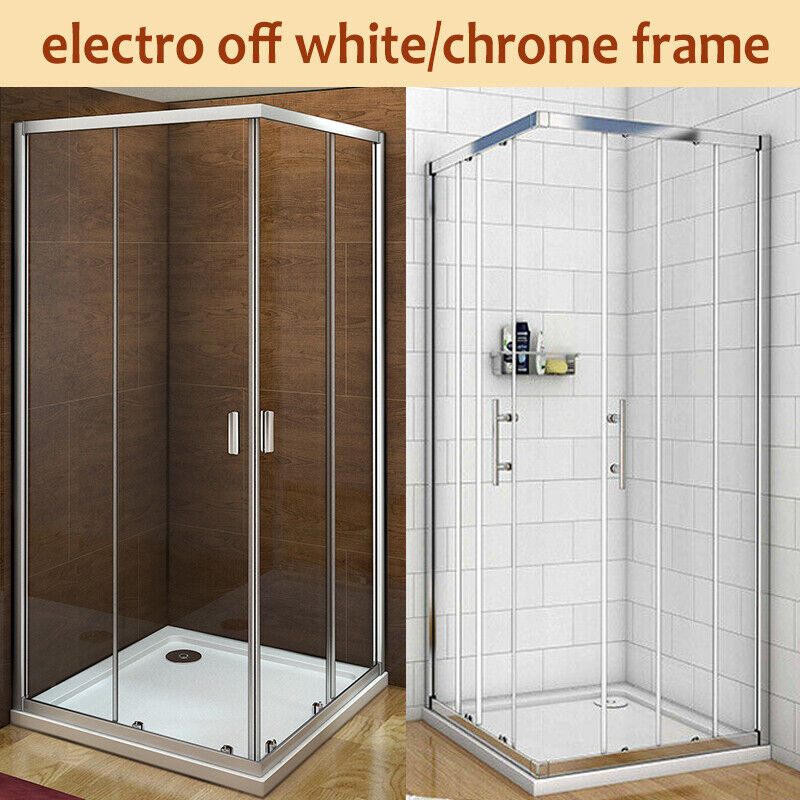 Walk In Corner Entry Shower Enclosure Glass Sliding Door