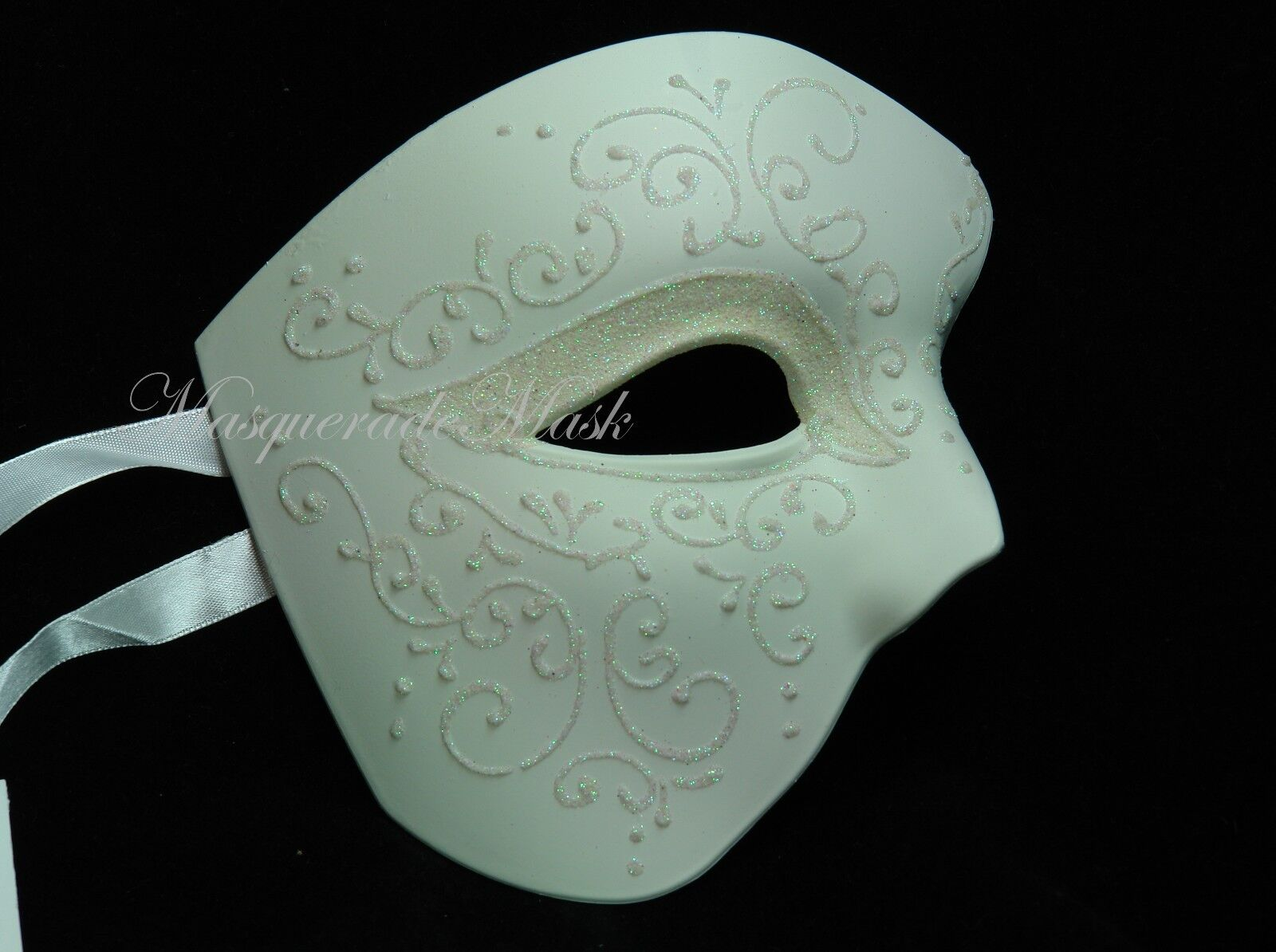 off white wedding masquerade mask men women halloween costume prom
