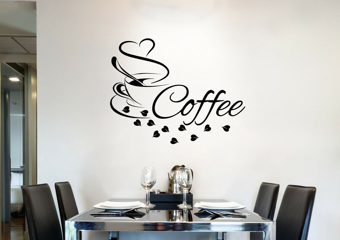 wandtattoo k che kaffee tasse cafe wandaufkleber herz coffee w3038 eur 1 49 picclick de. Black Bedroom Furniture Sets. Home Design Ideas