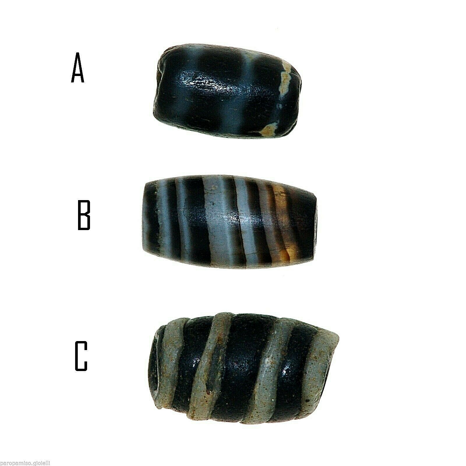 3 Versions of a Striped agate Bead   (0367)