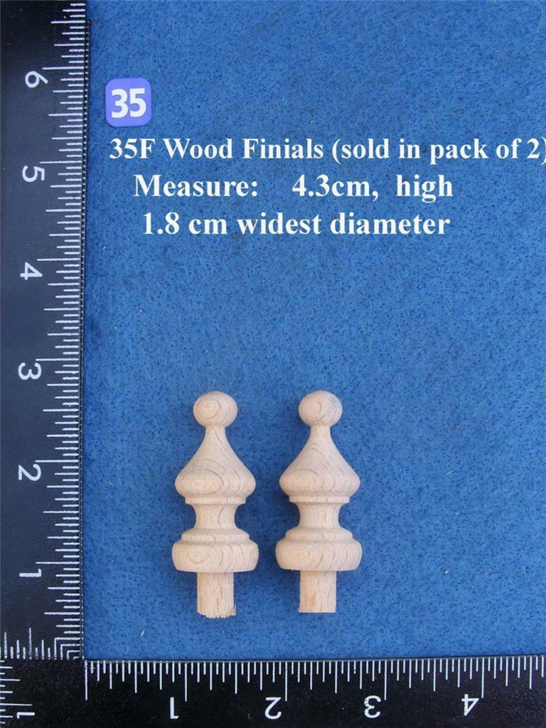 *Pair of Clock / furniture Finials Style 35F