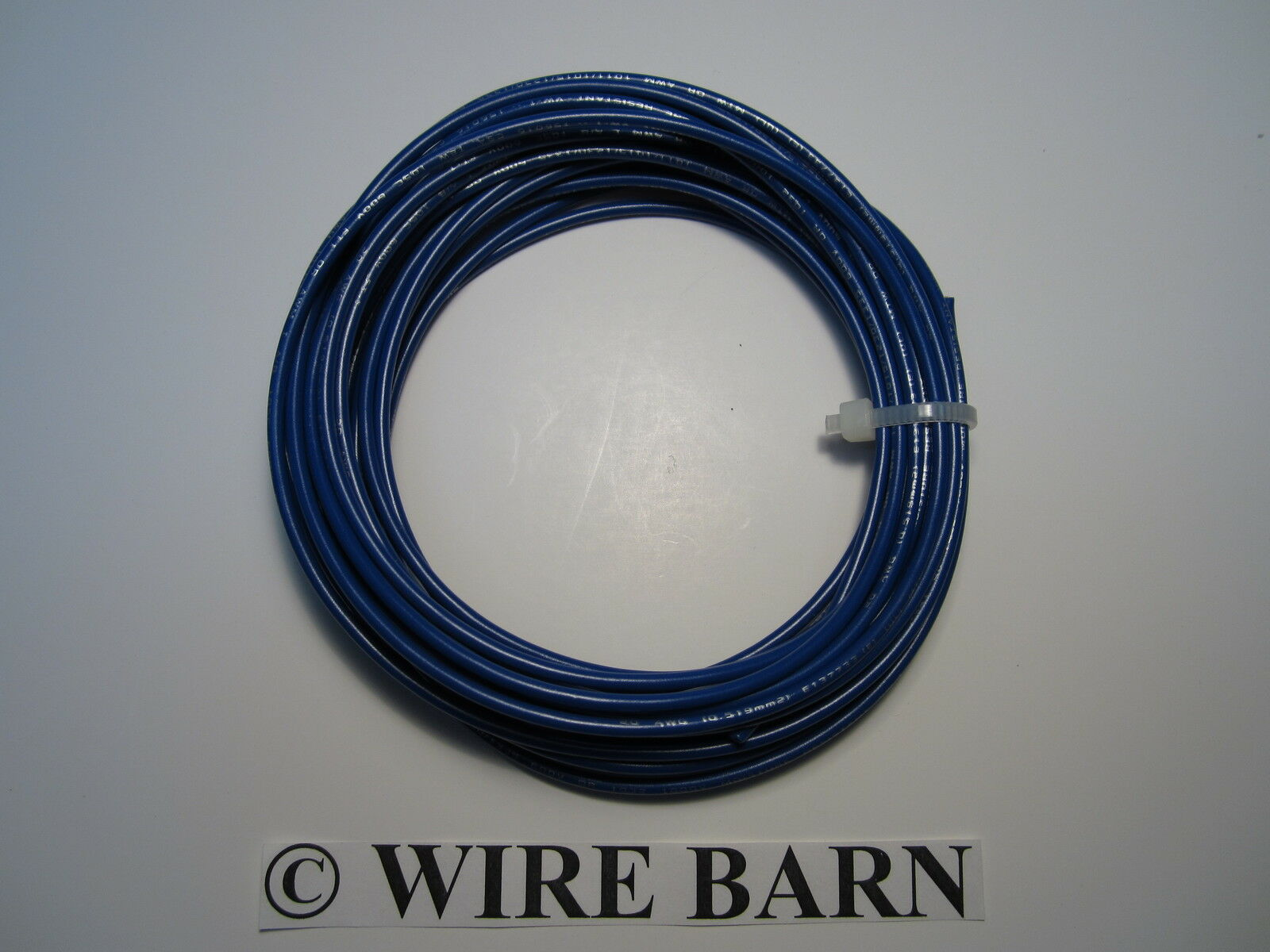 MTW 22 AWG Gauge Blue Stranded Copper Wire 25 Feet Machine Tool Wire ...