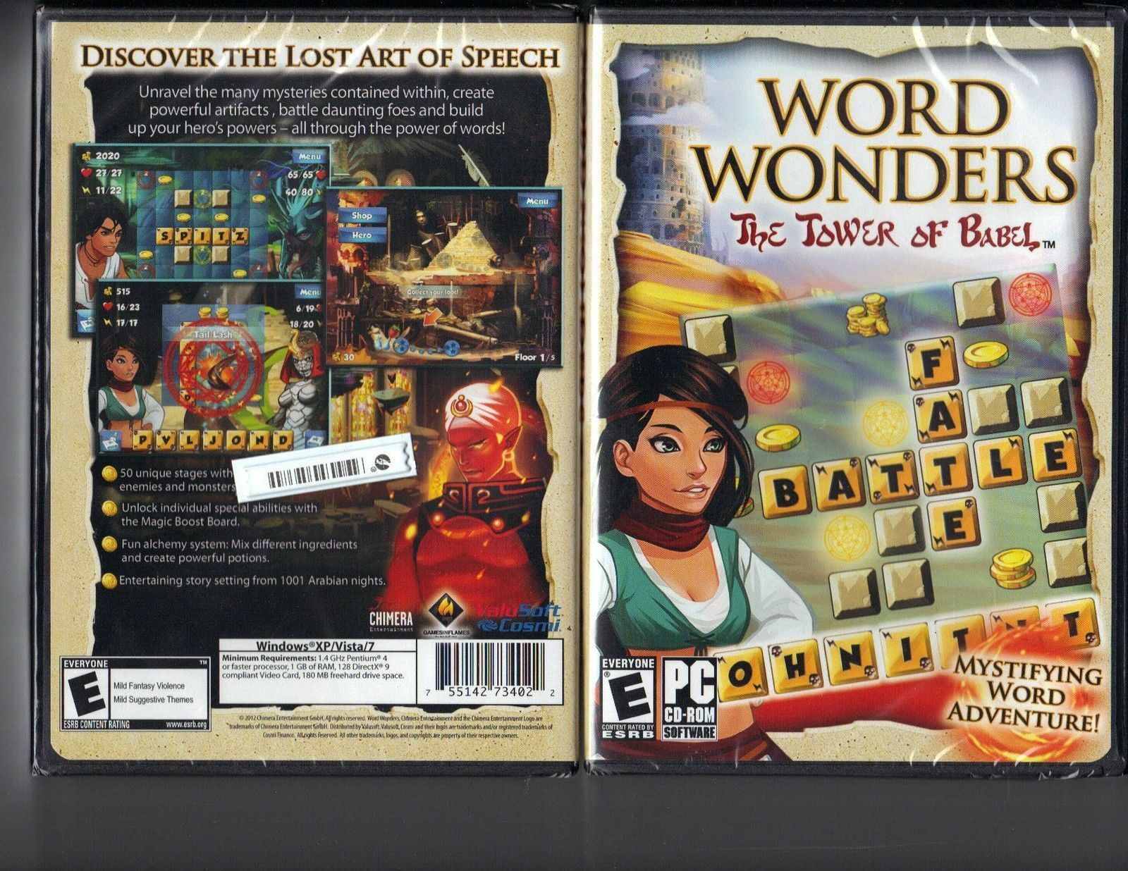 Word Wonders The Tower Of Babel Windows Pc Cd Rom Software Game