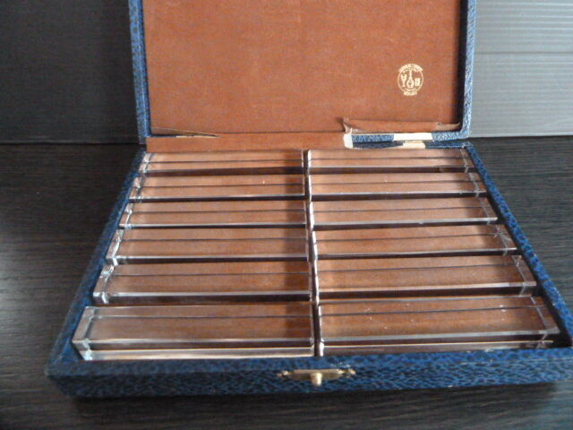 Baccarat France 12 Knives  Rest In Original Box