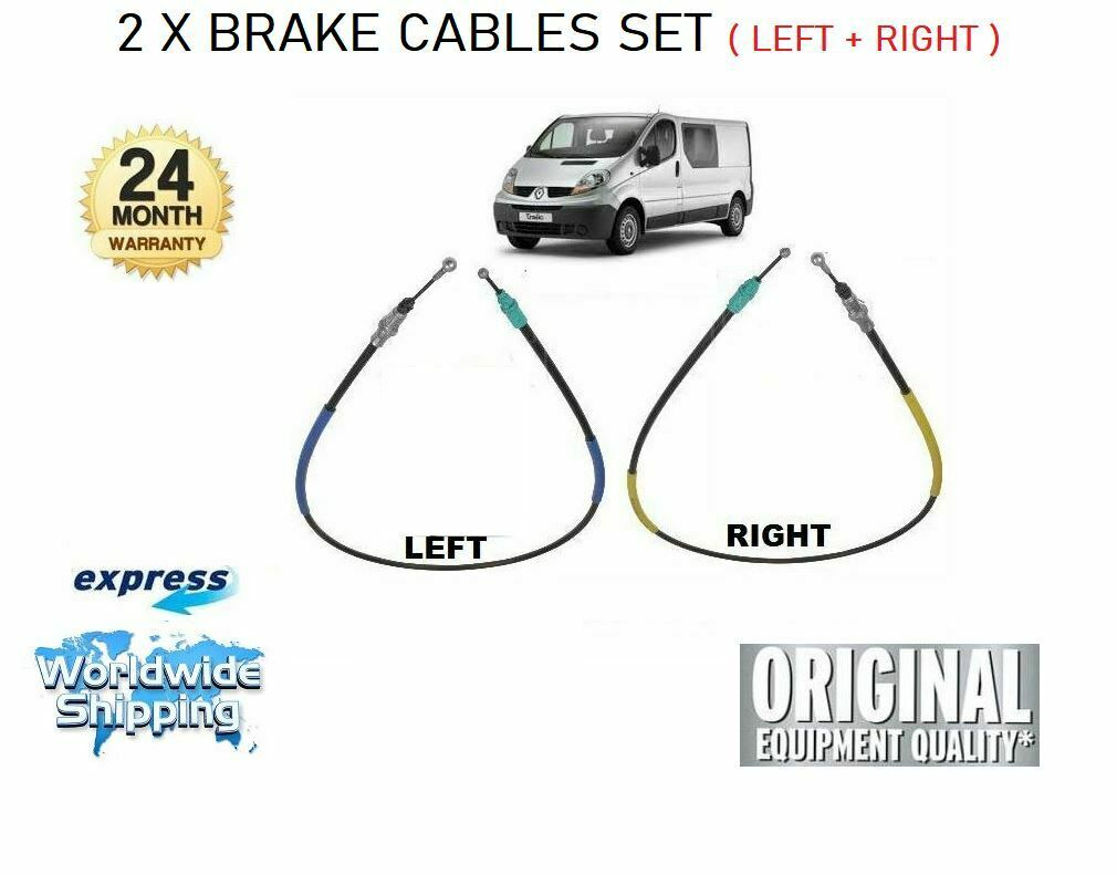 OPEL VIVARO A Brake Cable LHD Only Front 2.0 2.0D 2001 on Hand Brake QH Quality