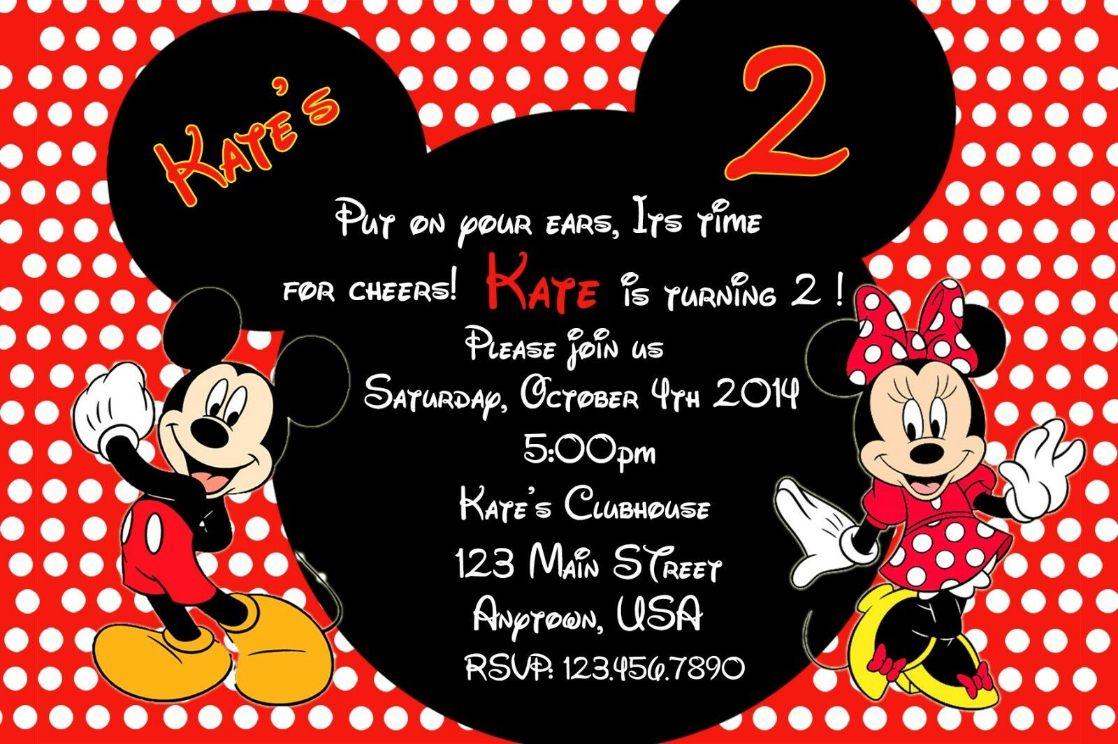 mickey mouse clubhouse birthday invitation birthday party invitations