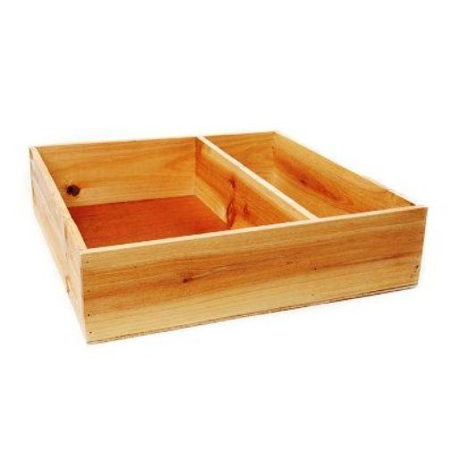 Natural Pine Wooden Tray Gourmet Hamper Crate Gift Box 35 x 35 x 9cms