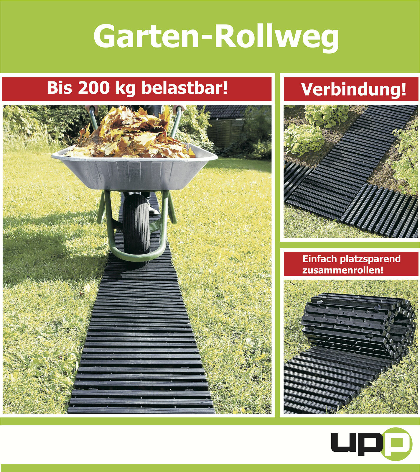 upp gartenplatten rollweg beetplatten gartenweg beet rasen 30x150cm eur 18 99. Black Bedroom Furniture Sets. Home Design Ideas