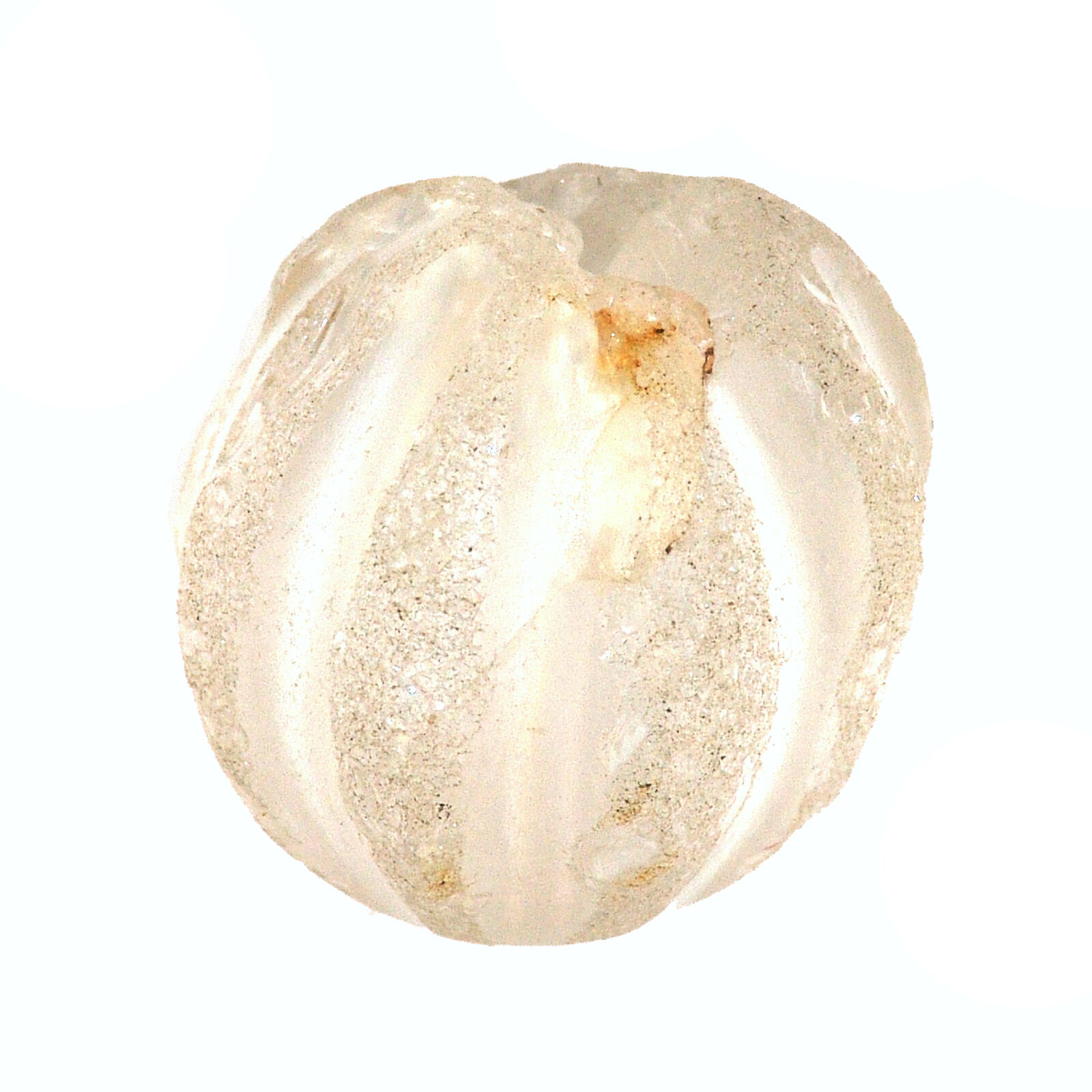 Chinese Rock Crystal Bead Mellon Shaped  -  CHINA    水晶石珠   (0676)