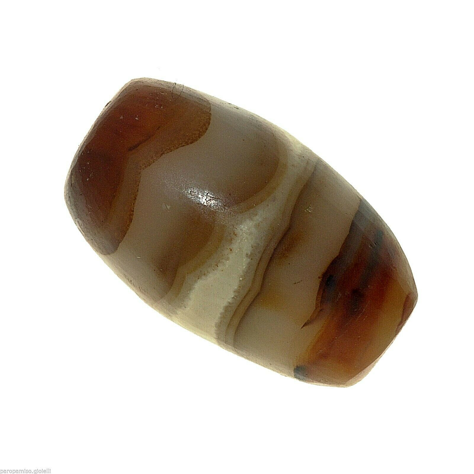 Striped Agate Bead from China-Tibet.   眼玛瑙珠      (0679)