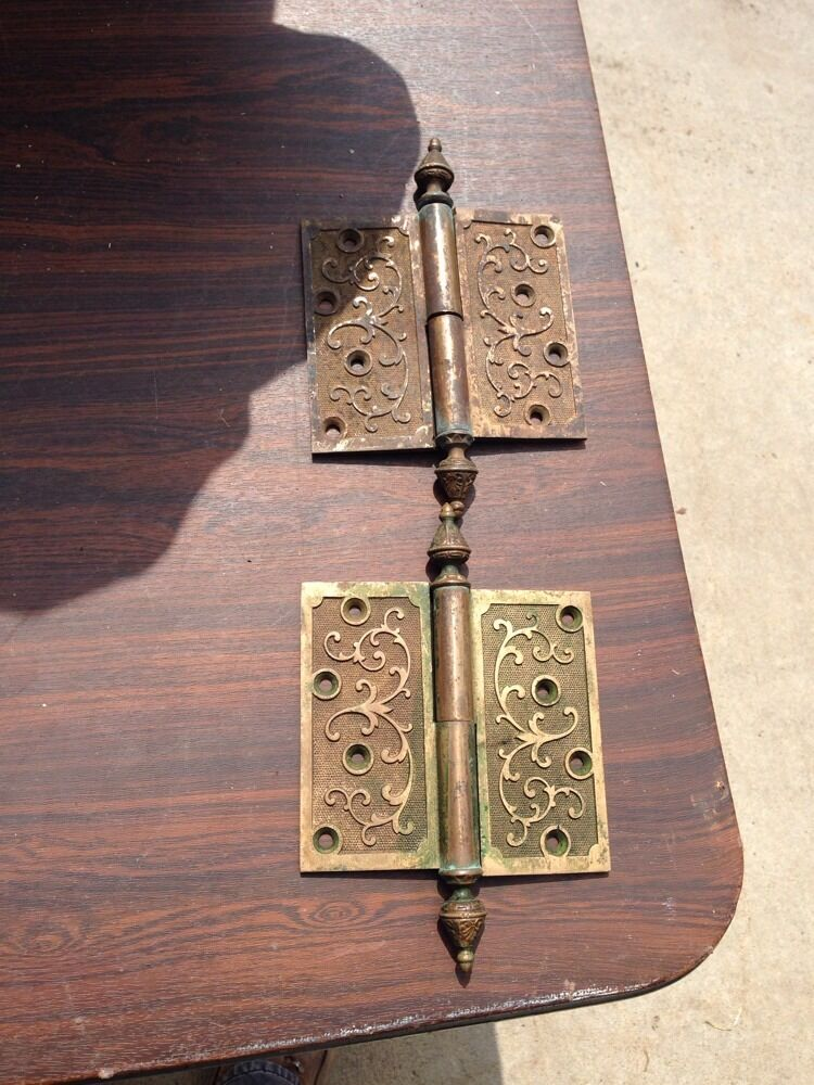 "Ms 27 2 Pair Matching 5"" X 5.5 "" Hinges Very Decorative"