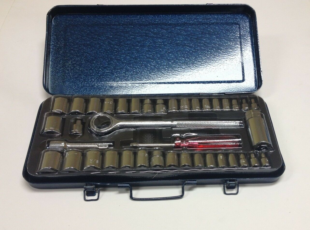 40 Pc Sae Metric Ratchet Spark Plug Socket Set 1 4 39 39 3