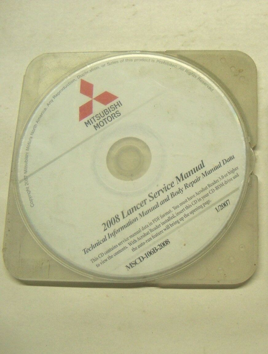 2008 Mitsubishi Lancer Service Manual Technical Information & Body Repair  Data 1 of 1Only 1 available ...