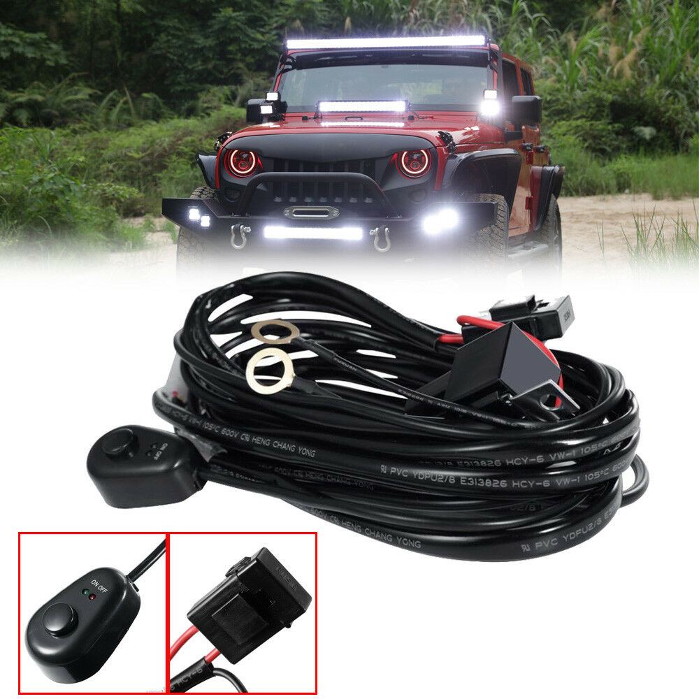Accessories 12v 40a Hid Led Light Bar Driving Wiring Harness Kit Universal Auto Fog Work Switch Cable 1 Of 12free Shipping