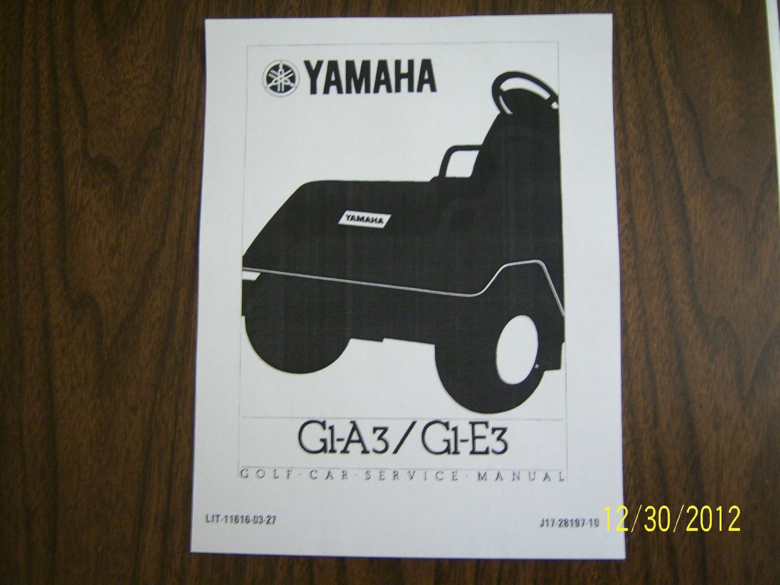 Yamaha Golf Cart Repair Service Manual G1 1983 Thru 1989 Owners G1a Wiring Diagram On Cd 1 Of 1free Shipping