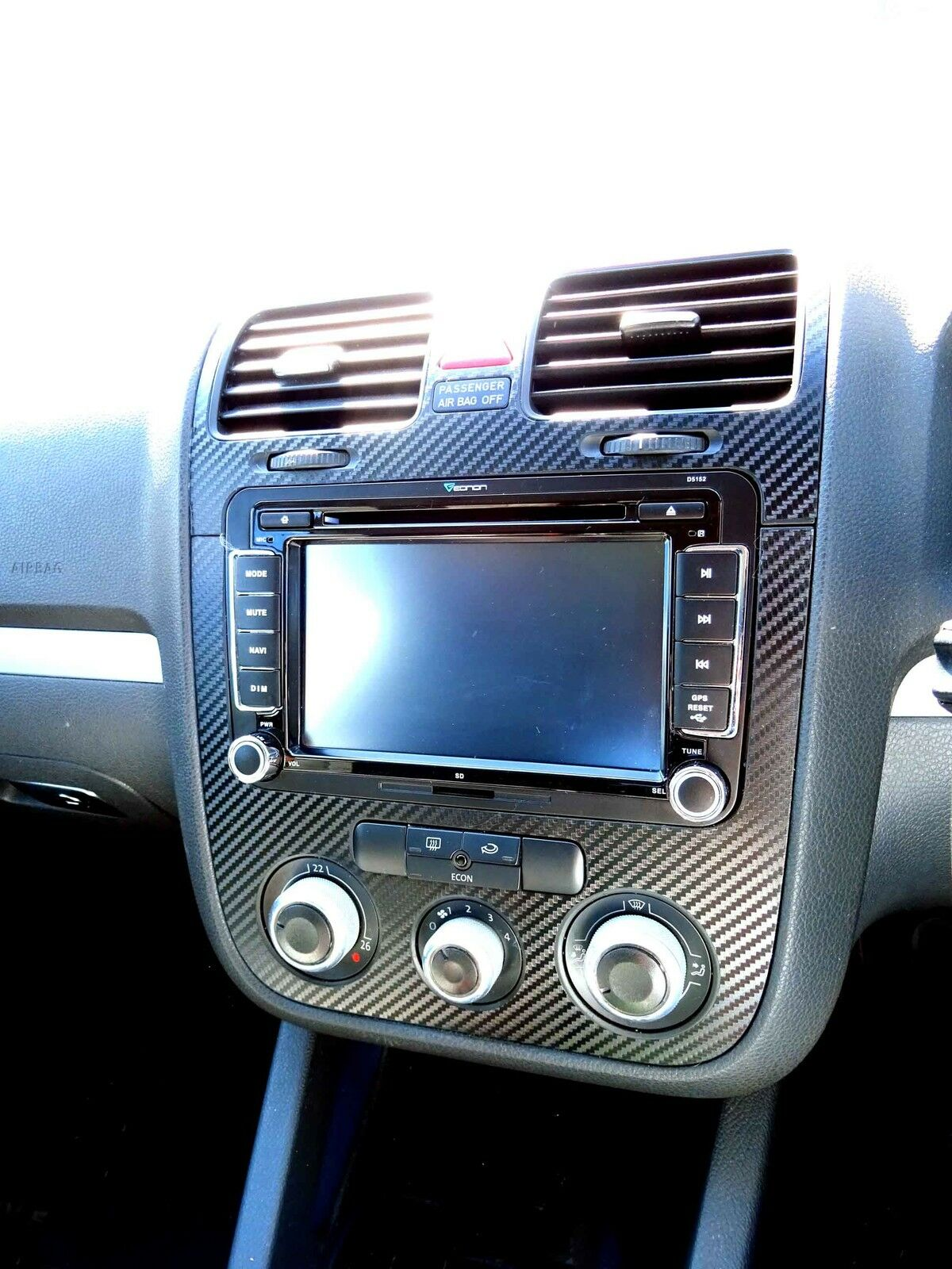 Vw Golf Mk5 Jetta Bora Rabbit Carbon Fibre Effect Dash