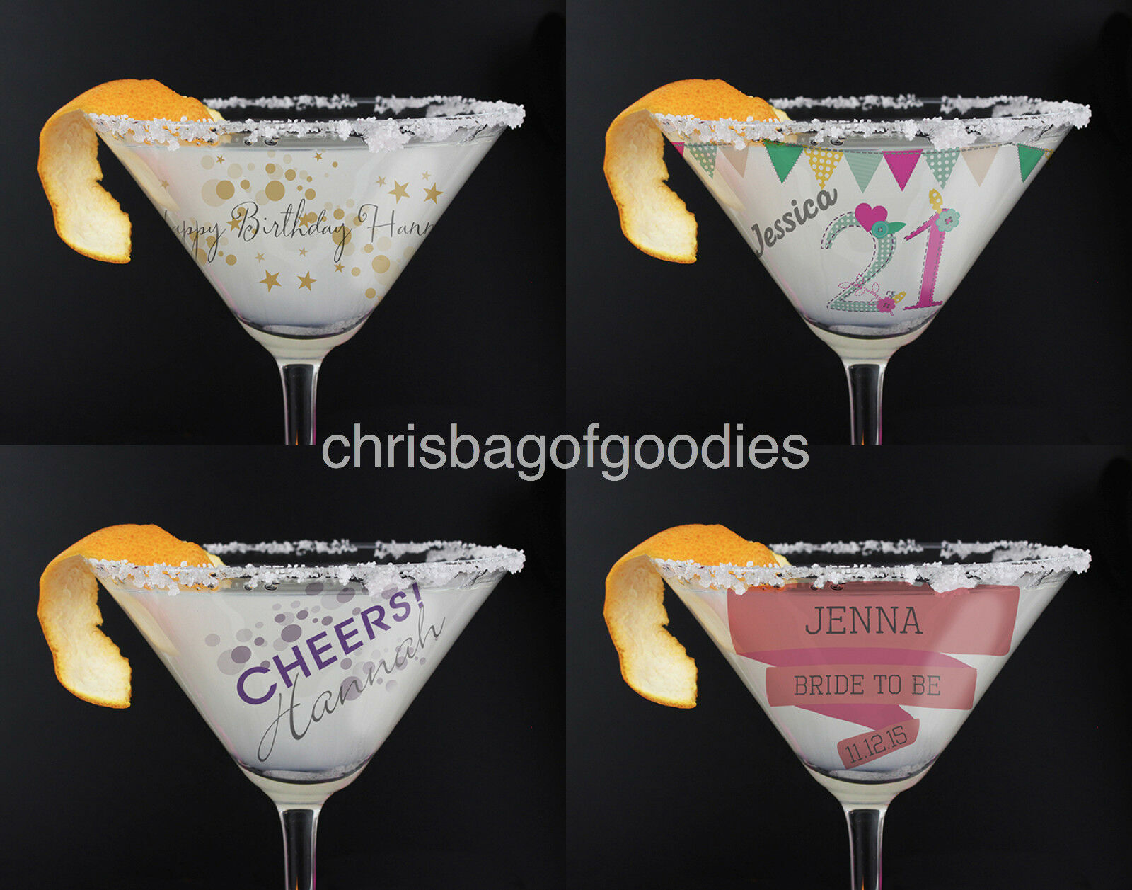 personalised birthday cocktail glass for 18th 21st 30th 40th 50th