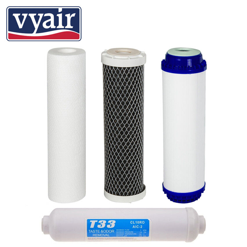 4 Pre Filters for Reverse Osmosis vyair RO-1 -Spare Water Filters