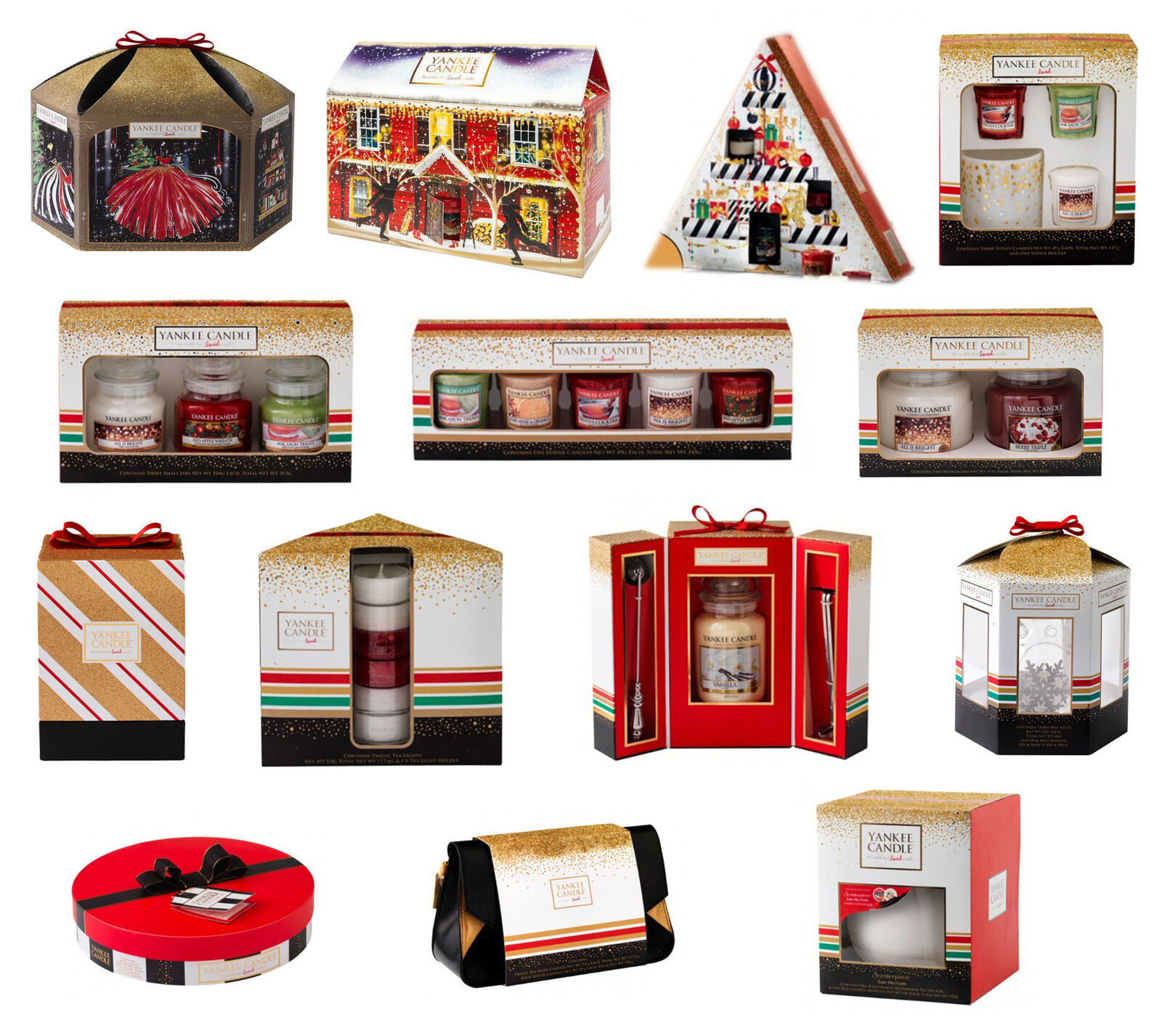 YANKEE CANDLE Christmas Gift Sets - Includes 2017 Perfect Christmas Collection - U00a38.99 | PicClick UK