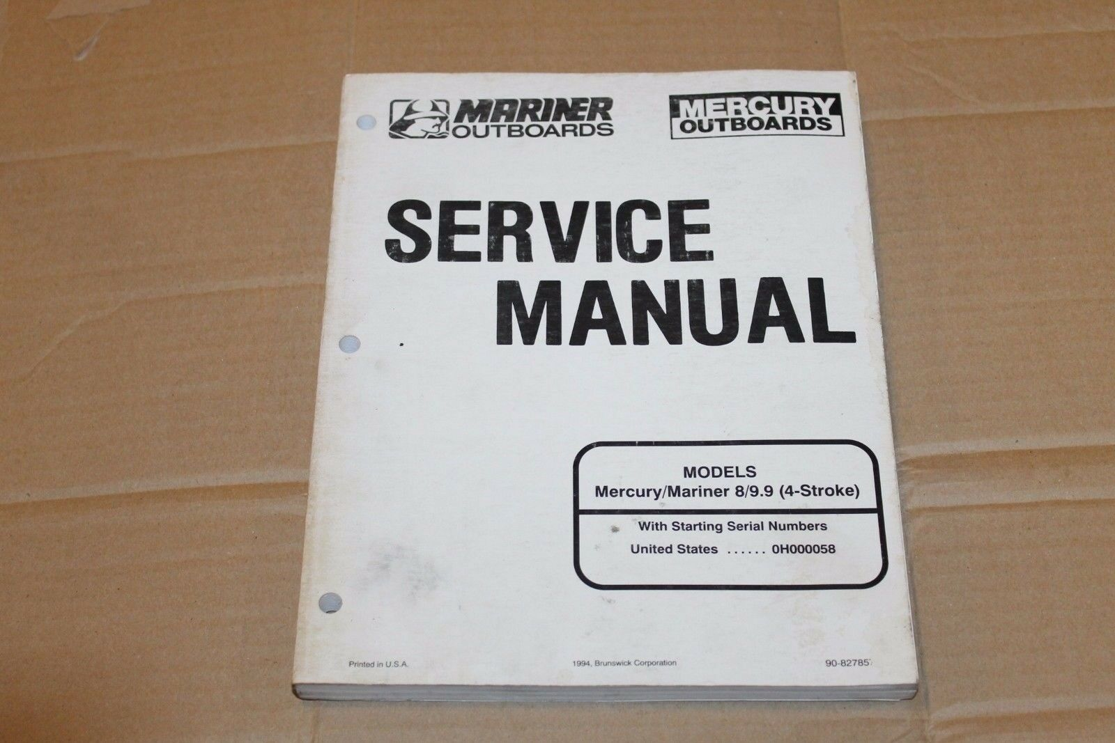 Mercury Mariner 8/9.9 9 (4-Stroke) Factory Service Manual. Starting 1 of  1Only 1 available ...