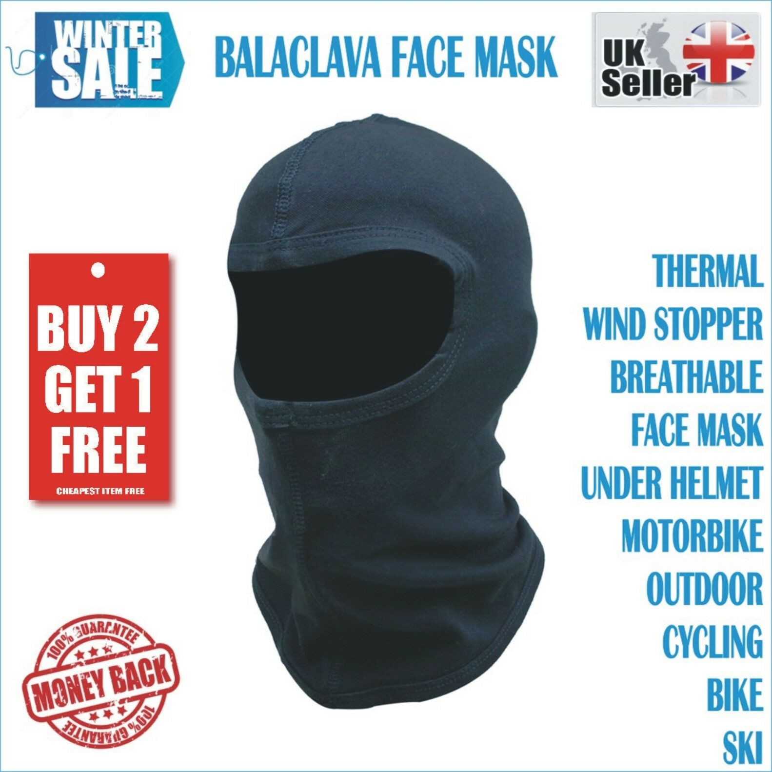 Motorcycle Motorbike Thermal Balaclava Ski Face Mask Under Helmet Neck  Warmer UK 9bbb2ccd3