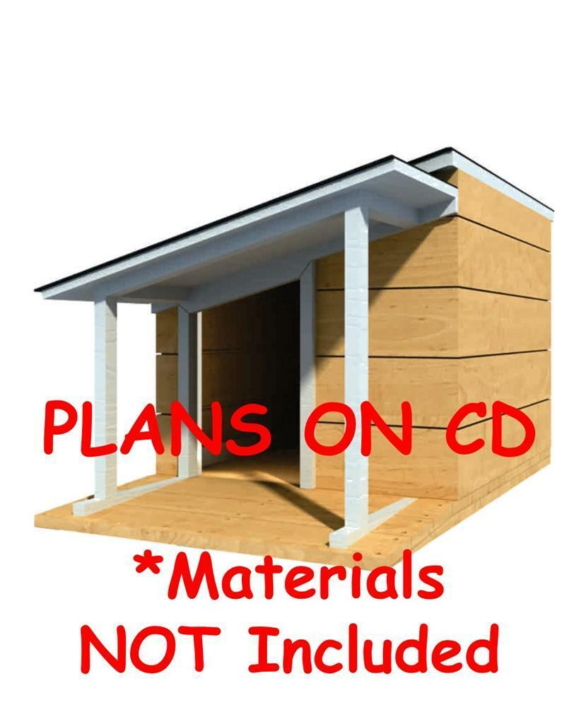 Lean to dog house plans for Lean to dog house plans