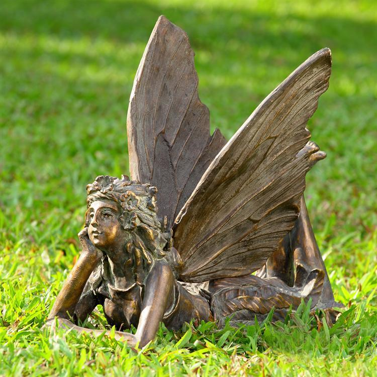 Large whimsical fairy angel garden sculpture statue 19 5 39 39 w picclick - Large garden fairy statues ...