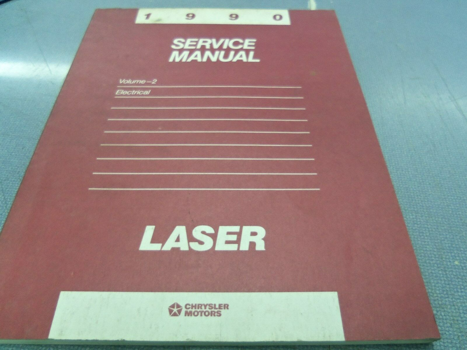 Chrysler Motors 1990 Plymouth Laser Service Manual Volume 2 Electrical 1 of  2Only 1 available ...