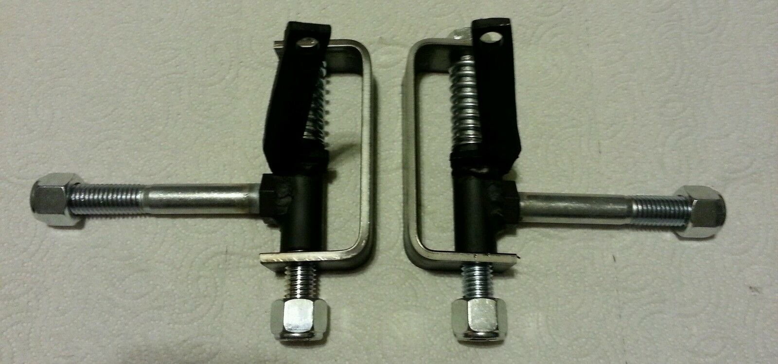 Go Kart Spindles : Set of extended brackets with spindles and springs for go