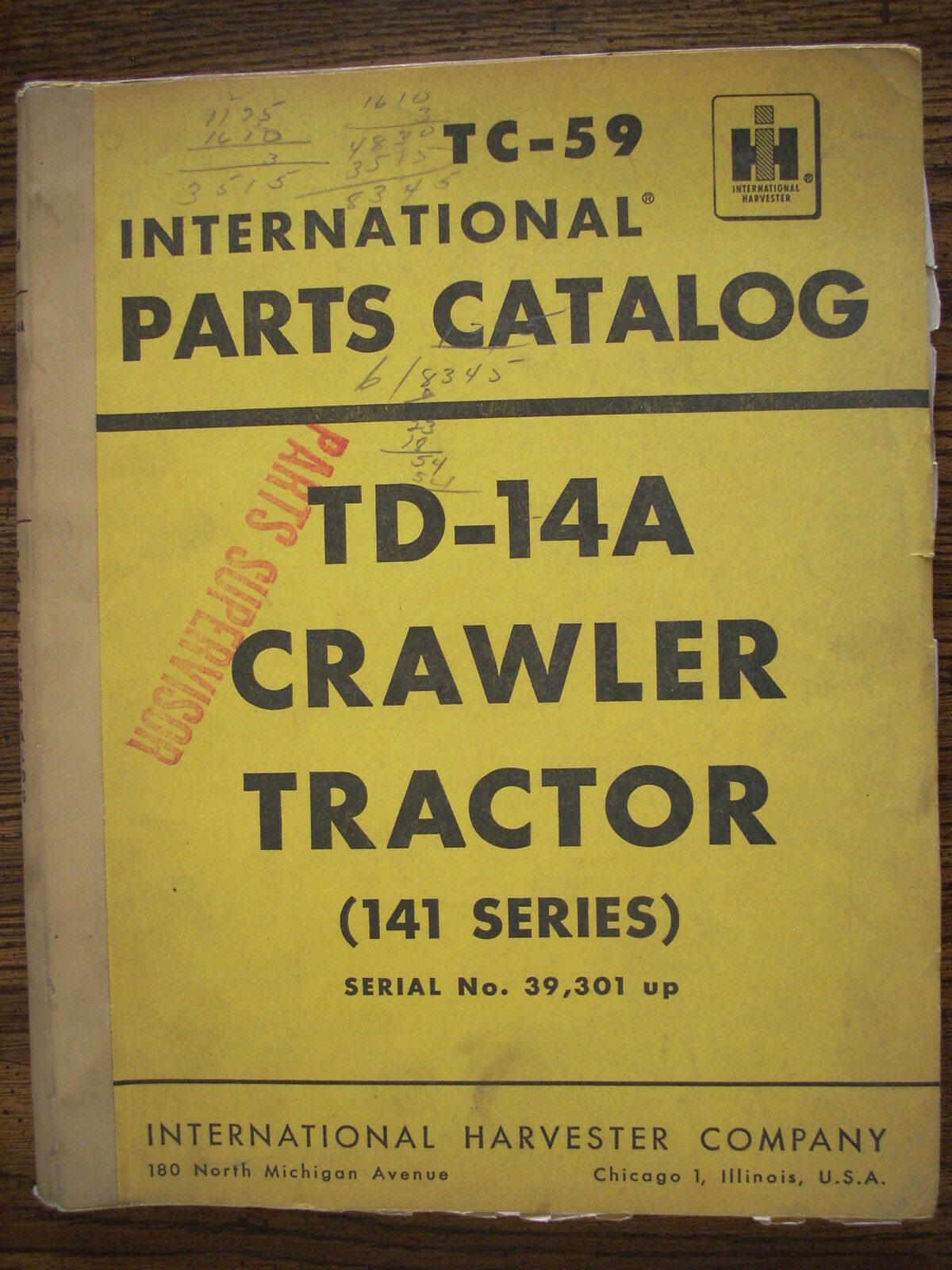 IH Farmall Mccormick International TD14A 141 Series Crawler Parts Manual 1  of 1Only 1 available ...