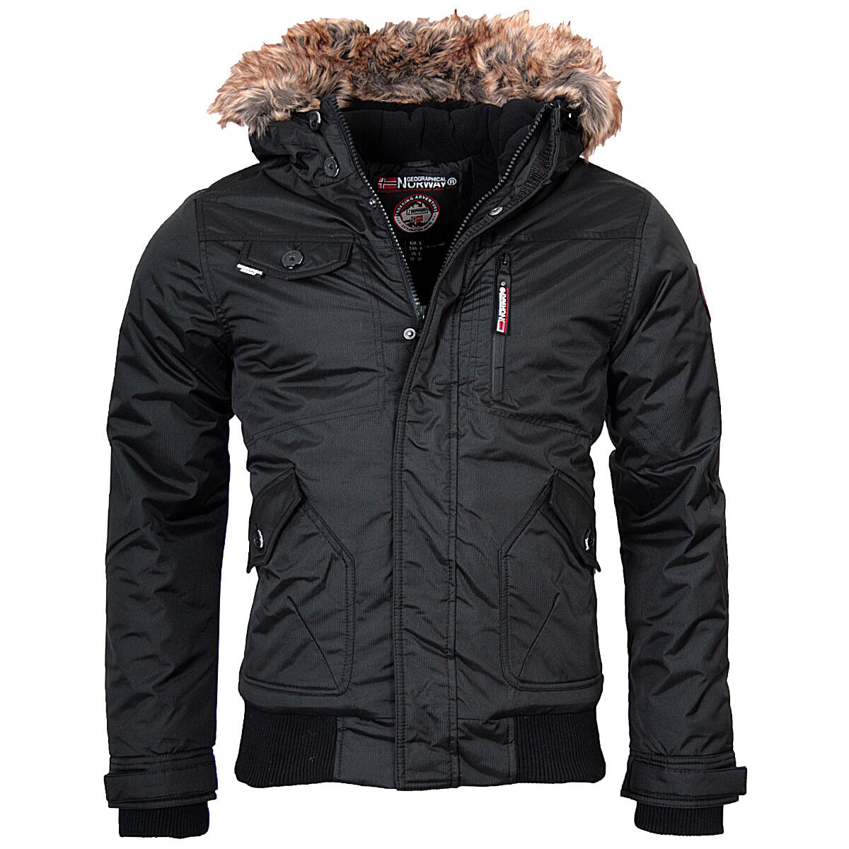 geographical norway bizon herren winter jacke warme jacke. Black Bedroom Furniture Sets. Home Design Ideas
