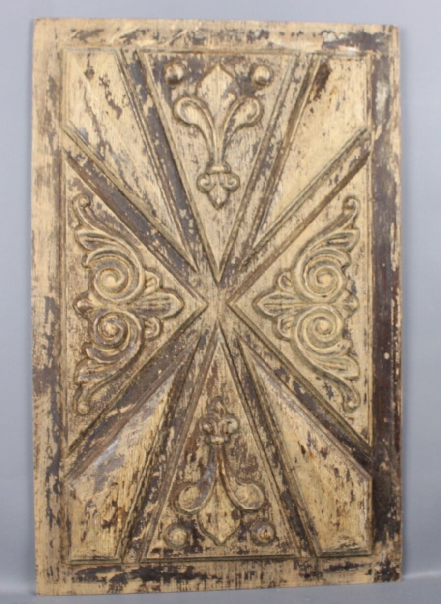 Antique French Carved wood Panel